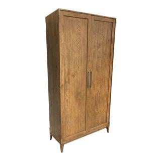 Restoration Hardware Campaign Panel Double Door Cabinet For Sale