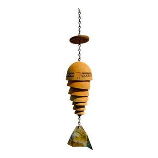 Vintage Paolo Soleri Ceramic and Metal Wind Chimes For Sale