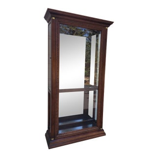 Pulaski Mahogany Mirrored Curio Display Cabinet For Sale