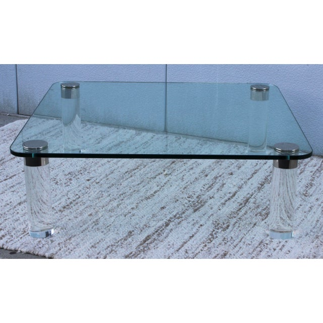Mid-Century Modern 1970's Large Lucite Coffee Table For Sale - Image 3 of 11