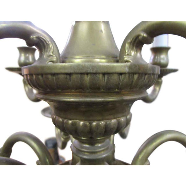 Olde Brass Chandelier For Sale - Image 4 of 8