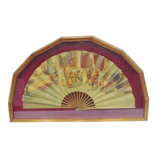 Early 19th Century Scenic French Opera Fan For Sale
