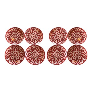 Slim & Sage Ruby Bold Plates - Set of 8