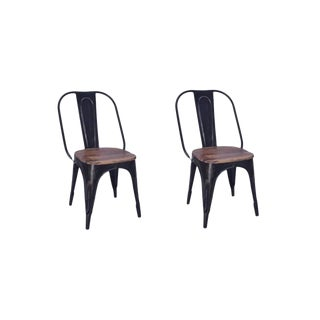 Travis Iron Dining Chair Set For Sale