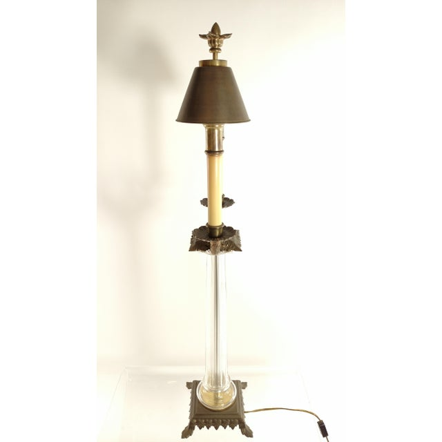 Traditional Double Candlestick Table Lamp For Sale - Image 3 of 4