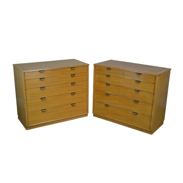 Edward Wormley for Drexel Precedent Pair Mid Century Modern Chests For Sale