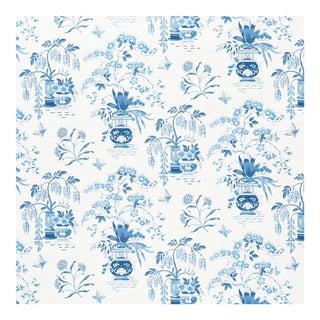 Sample - Schumacher Ming Vase Wallpaper in Porcelain For Sale