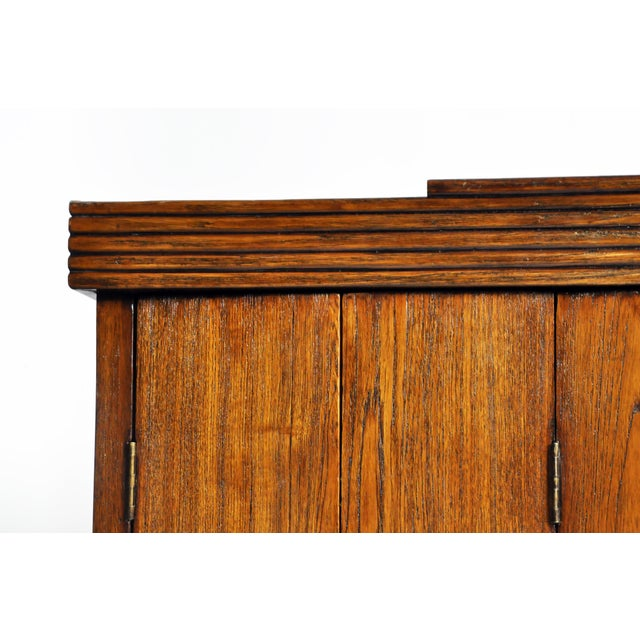 Art Deco Cabinet With Five-Panel Folding Doors From Burma For Sale In Chicago - Image 6 of 13