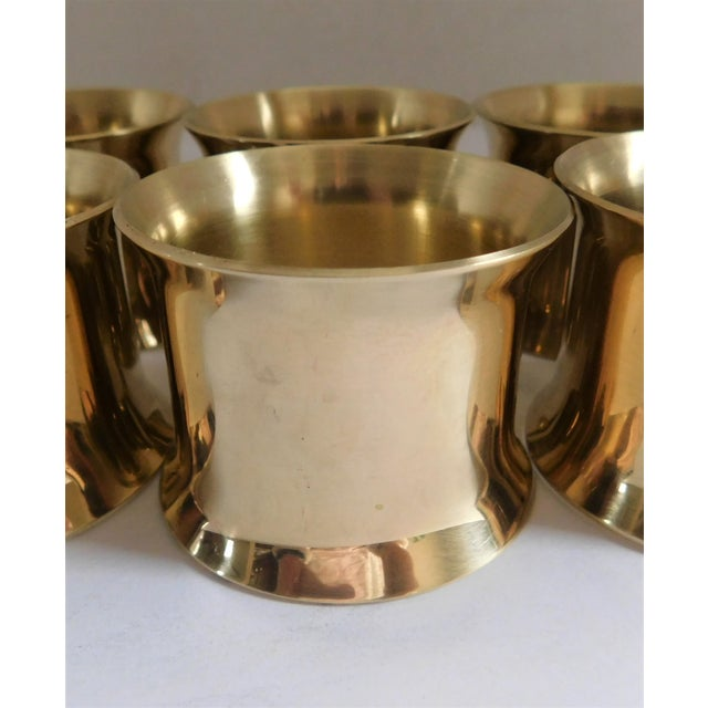 Solid Brass Vintage Napkin Rings - Set of 12 For Sale - Image 11 of 13