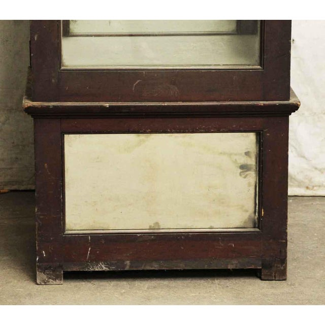 Wooden Cabinet With Mirrored Bottom For Sale - Image 5 of 8