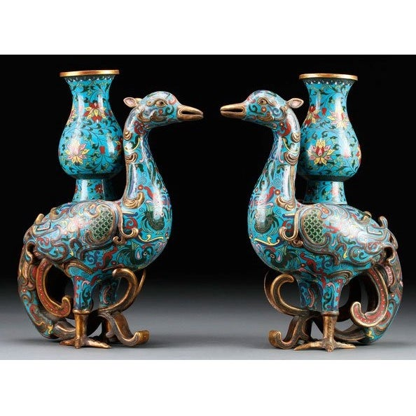 Chinese Chinoiserie Ming Dynasty Vases - A Pair - Image 2 of 4