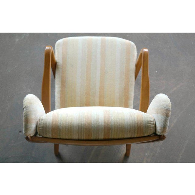 Danish Midcentury Wingback Lounge Chair With Exposed Sides For Sale - Image 10 of 13