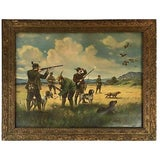 Image of 1940s English Hunt Scene For Sale