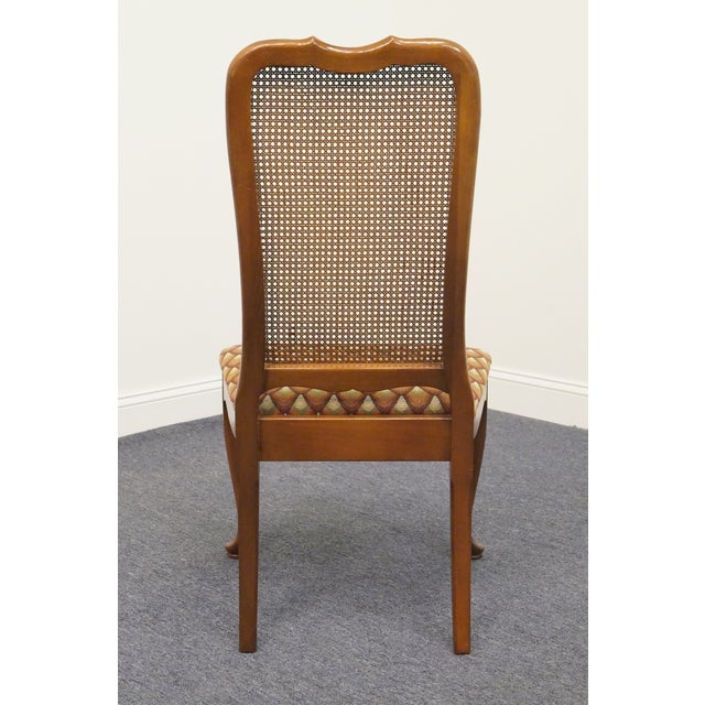 Late 20th Century Vintage Georgetown Galleries Solid Cherry Cane Back Side Chair For Sale In Kansas City - Image 6 of 10