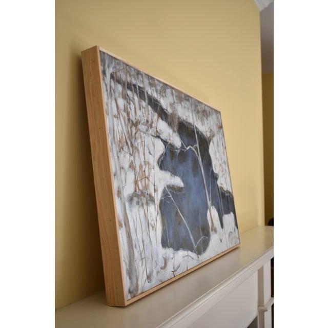 "Ink Blue Stephen Remick ""Destruction Brook at Ella's Bridge""Contemporary Painting For Sale - Image 8 of 9"