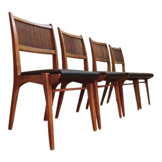 Mid Century Modern John Van Koert Drexel Profile Dining Chairs Set of 4
