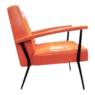 Mid Century Modern Retro Orange Lounge Chair For Sale