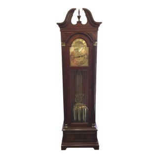 Mahogany Ethan Allen Grandfather Clock For Sale