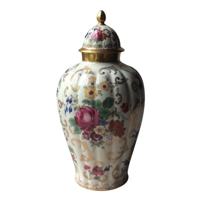 Antique Austrian Porcelain Temple Jar For Sale