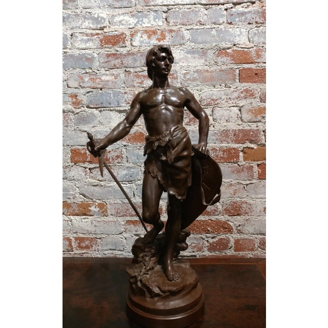 Antoine Bofill -Warrior W/Sword & Shield-19th C. French Bronze Sculpture For Sale - Image 10 of 10