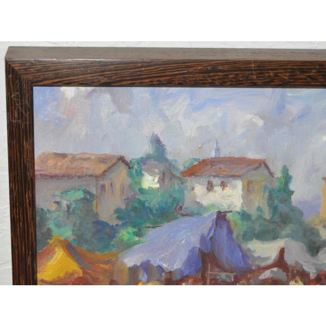 Canvas Vintage Impressionist Oil Painting by Gabetto For Sale - Image 7 of 8