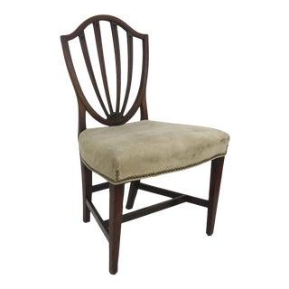 English Mahogany Hepplewhite Shield Back Side Chair For Sale