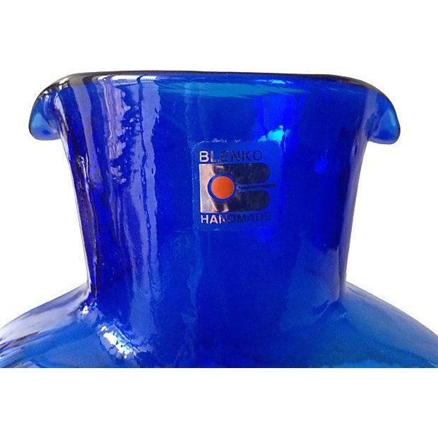 Blenko Cobalt Blue Carafe - Image 5 of 5