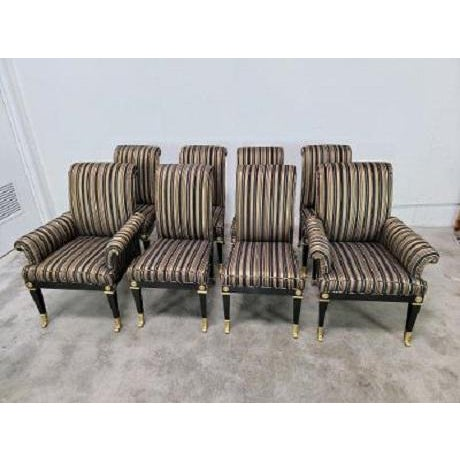 Mid Century Hollywood Regency Mastercraft Dining Chairs - Set of 8 For Sale - Image 13 of 13
