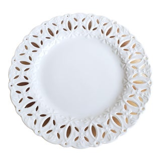 White Lace Edge Plate For Sale