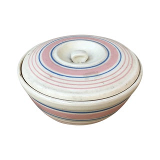 1940's Handmade Americana Mixing Bowl With Lid For Sale