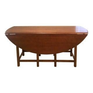 Ethan Allen Cherry Drop Leaf Table For Sale