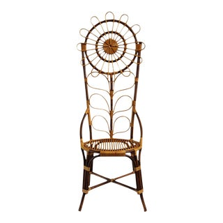 Tall Bamboo Sun Flower Chair For Sale