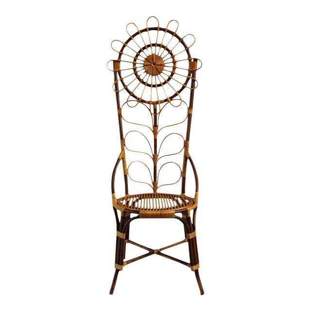 Tall Bamboo Sun Flower Chair - Image 1 of 8