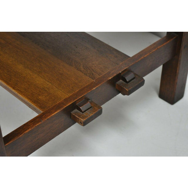 1900s Arts and Crafts L & Jg Stickley Library Table/Writing Desk For Sale - Image 10 of 12