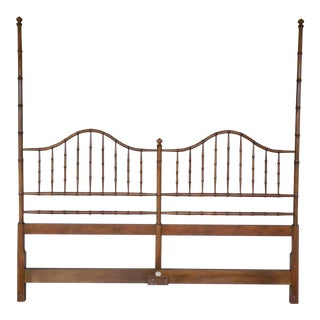 Baker Hollywood Regency Faux Bamboo King Size Headboard