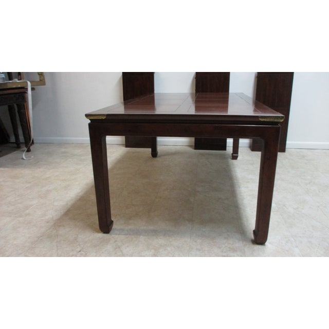 Chippendale Henredon Pan Asian Dining Room Conference Table For Sale - Image 9 of 13