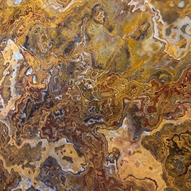1960s Mid Century Specimen Agate Coffee Table For Sale - Image 5 of 6