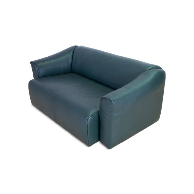 De Sede DS 47 Sofa in Petrol Green Leather For Sale - Image 9 of 12