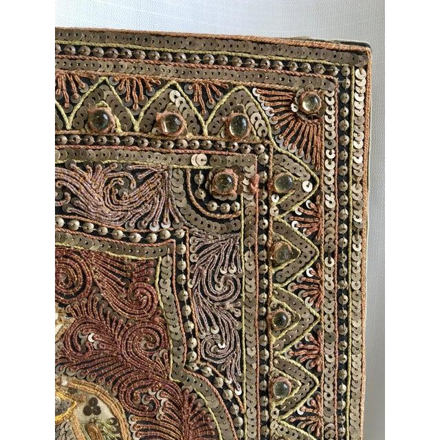 1960s Vintage Burmese Kalaga Dancer Tapestry For Sale - Image 5 of 10