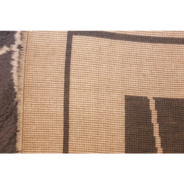 Mid-Century Square Size Rug by Pierre Cardin - 8′ × 8′ For Sale In New York - Image 6 of 7