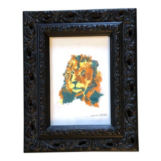 Contemporary Original LionIllustration Painting by Anna Heigh For Sale