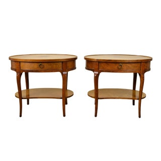 Baker Milling Road Mahogany End Tables or Nightstands - a Pair For Sale