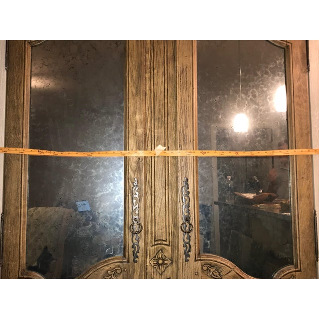 Acid Wash Mirrored Armoire For Sale - Image 11 of 12
