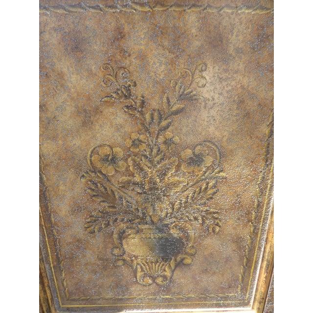 Vintage Maitland Smith Beige & Gold Ornate 3 Drawer Chest ~ Hollywood Regency Dresser For Sale - Image 12 of 13