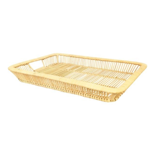 Boho Chic Vintage Rattan Tray - Image 1 of 6
