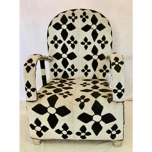 African Beaded Nobility Chairs Handcrafted by Yoruba Artisans - a Pair For Sale - Image 9 of 13