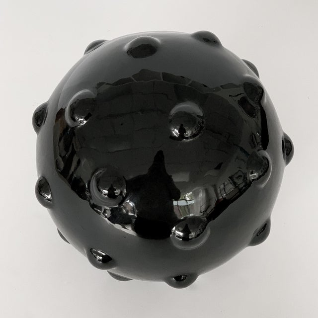 Contemporary Monumental Obsidian Mine Sphere Sculpture For Sale - Image 3 of 7