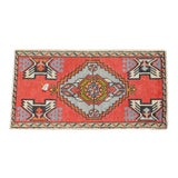 "Image of Hand Knotted Door Mat, Entryway Rug, Bath Mat, Kitchen Decor, Small Rug, Turkish Rug - 1'8"" X 3'1"" For Sale"