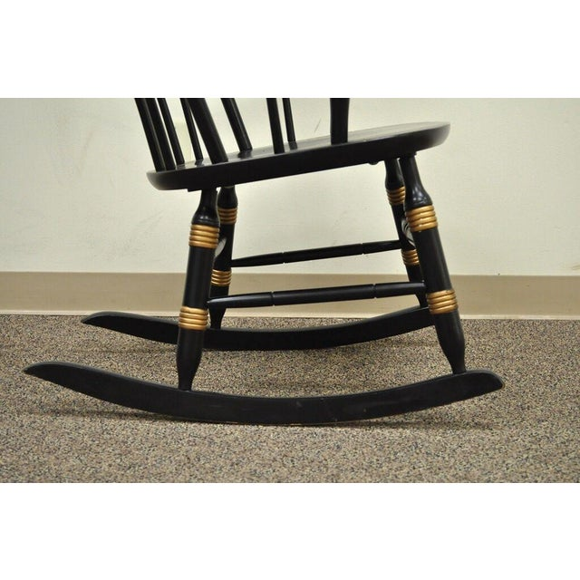 Vintage Sigill College University Nichols & Stone Windsor Rocking Chair For Sale - Image 9 of 11