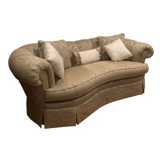 Custom Formal Sofa with Pillows For Sale